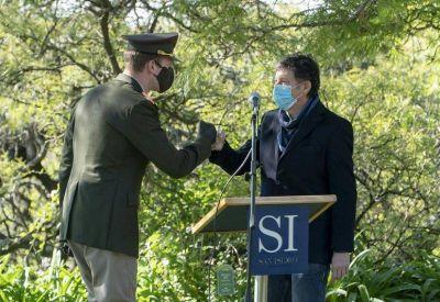San Isidro: Gustavo Posse encabezó el acto por el Día del Himno Nacional