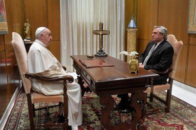 """Alberto Fernández: """"El Papa me expresó su idea de apoyarnos en todo lo que pueda"""""""