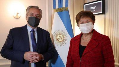 Fernández, tras el encuentro con la titular del FMI: