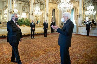 Alberto Fernández recibió el apoyo del primer ministro italiano Draghi por la deuda