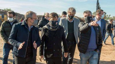 Kicillof y Zabaleta recorrieron las obras para unir Combate Pavón y Ruta 4