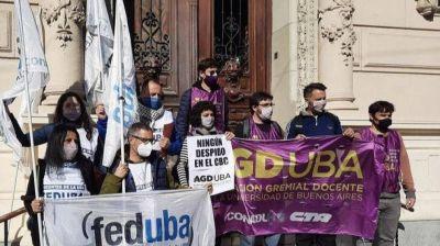FEDUBA exige la reincorporación de cuatro docentes universitarios
