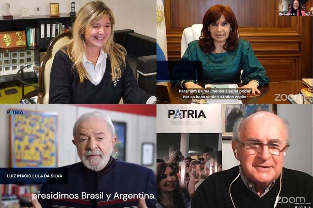 Cristina Kirchner y Lula da Silva compartieron un acto virtual