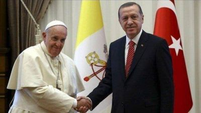 Papa habla por teléfono con presidente turco Erdogan en medio de crisis en Gaza