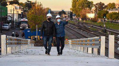 Merlo: Avanza la construcción del puente modular de San Antonio de Padua