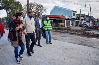 La Intendenta recorrió pavimentos con el Secretarios de Obras Públicas de Nación
