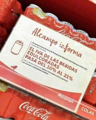 El impuesto a las bebidas azucaradas ya se refleja en los precios del supermercado