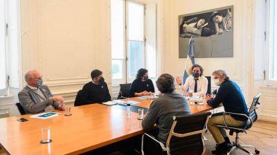 Cafiero recibe a representantes de Provincia y Ciudad para analizar la situación epidemiológica