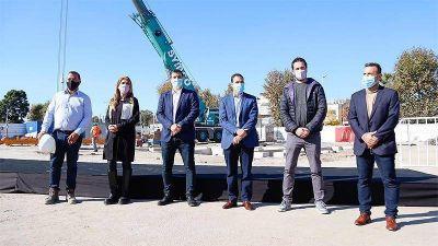 Chornobroff y Sierra participaron del inicio de las obras de restaurante de fast food en el Alto Avellaneda