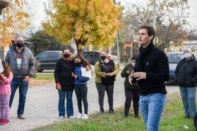 El intendente Mantegazza se reunió con vecinos y vecinas y anunció el inicio de obras de pavimentación