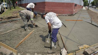 Con inversión municipal, Tigre construyó veredas en escuelas y jardines de General Pacheco