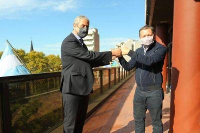 Fernando Gray y Jorge Ferraresi se reunieron por obras de viviendas en Esteban Echeverría