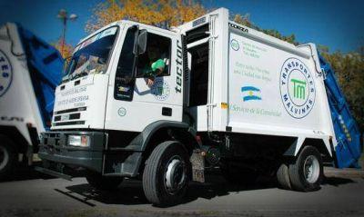 Transportes Malvinas: Aclaran no vender bolsas de residuos en la calle