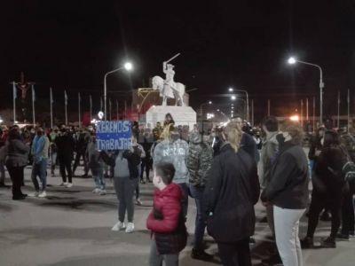 Comerciantes de Charata se manifestaron en disconformidad al cierre total