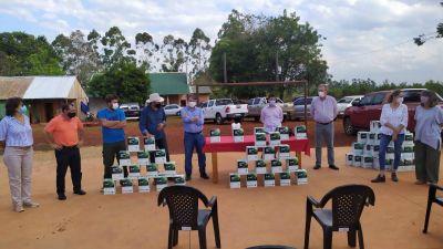 Wanda: unos 55 productores recibieron fertilizantes y semillas
