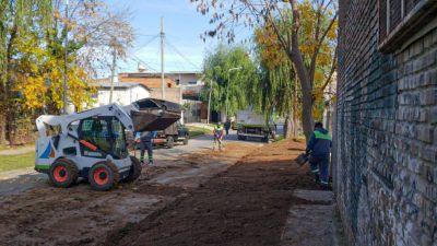 San Fernando realizó un nuevo operativo integral de limpieza y ordenamiento en el barrio Alsina