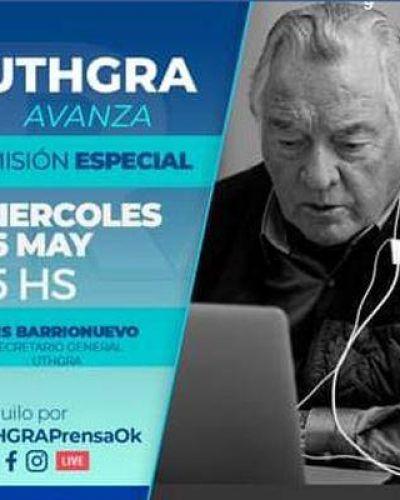 José Luis Barrionuevo hará un vivo por las redes sociales de UTHGRA