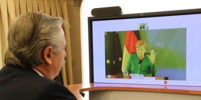 Deuda: Alberto sumó el apoyo de Merkel y espera un guiño del Club de París