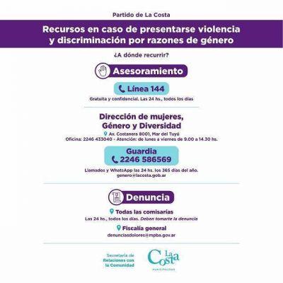 La Costa ofrece herramientas de acompañamiento a víctimas de violencia y discriminación de género