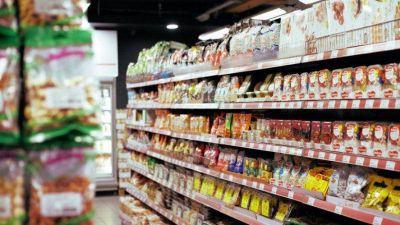 Las ventas en supermercados cayeron 8,8% interanual