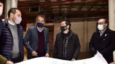Nardini y Katopodis recorrieron la obra del Hospital Universitario y de Diagnóstico Precoz