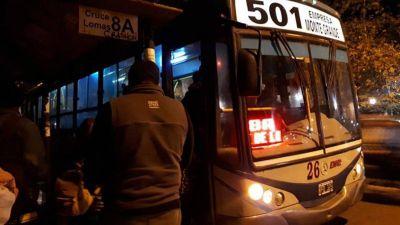 Echeverría: Los choferes de las líneas 501, 394 y 254 limitaron el paro al horario nocturno