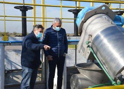 Cagliardi destacó la puesta en valor de la planta depuradora de líquidos cloacales