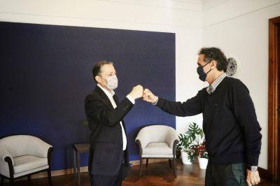 Fernando Gray se reunión con Gabriel Katopodis por obras en el municipio