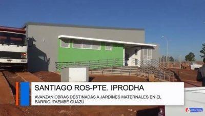 Avanzan las obras del Iprodha para los Jardines Maternales de Itaembé Guazú