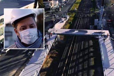 El municipio de Merlo avanzó con las obras de un nuevo puente peatonal sobre las vías del ferrocarril