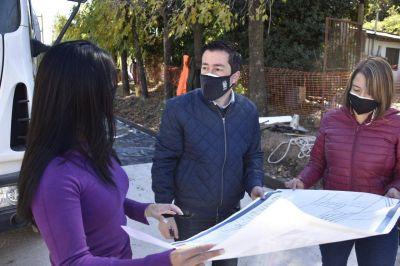 Nardini monitoreó el avance de obras en barrio El Primaveral