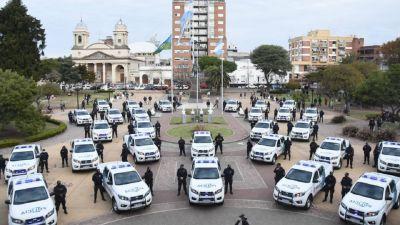 Sergio Berni presentó 30 nuevos patrulleros en Morón