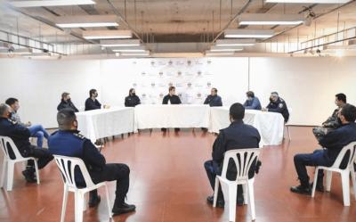 El Intendente se reunió con autoridades de las fuerzas policiales de Luján