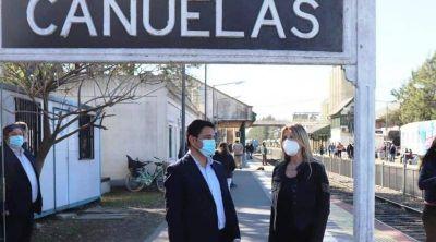 Cañuelas: Fassi supervisó el funcionamiento del Tren Sanitario