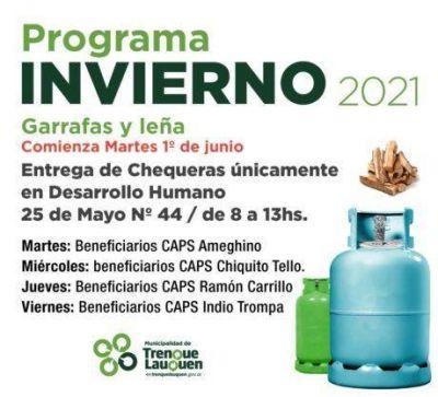 Se pone en marcha hoy en Trenque Lauquen el Programa Invierno 2021