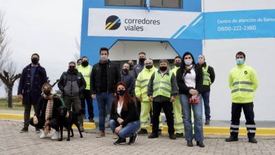 Corredores Viales inauguró centro de seguridad vial y de asistencia al usuario en Saladillo
