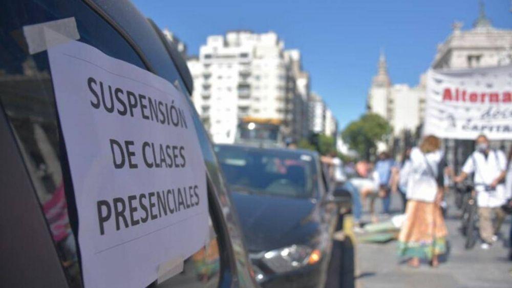 Rechazo gremial al retorno de la presencialidad en CABA, Mendoza y Córdoba