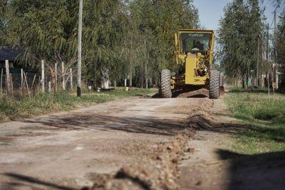 Plan de asfaltado: comenzó la pavimentación en Olivera