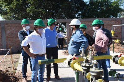 Saenz supervisó las obras para que residentes de Ballivián y Coronel Cornejo accedan al servico de gas natural