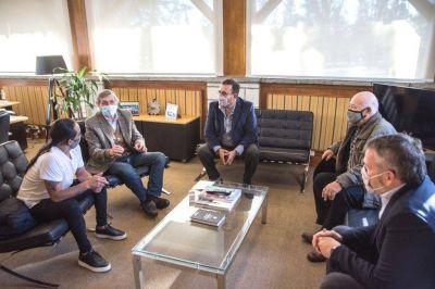 Massei recibió a sindicalistas, en una reunión con clave electoral