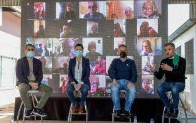 Hurlingham: Zabaleta, Larroque, Volnovich y Rodríguez, participaron de la firma de convenio para refaccionar los centros de jubilados