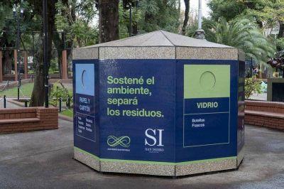 Sumaron un nuevo ecopunto en Martínez para el reciclaje de residuos