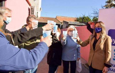 Malena Galmarini inauguró una red de agua potable para los barrios La Bota y San Patricio de Benavídez
