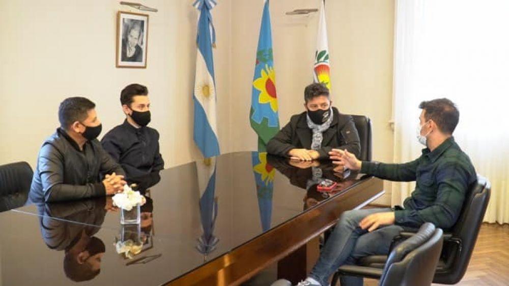 Lucas Guzmán, el representante de Merlo que irá a los Juegos Olímpicos, se reunió con el intendente
