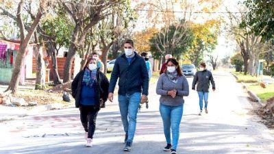 Passaglia recorrió el barrio 17 de Octubre
