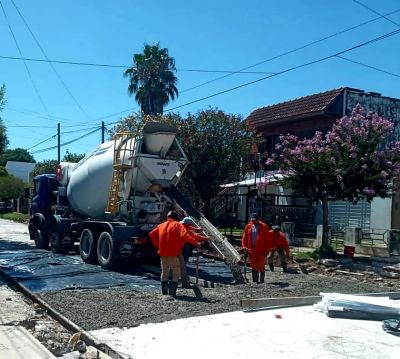 Avanzan las obras de nuevos pavimentos en todo Merlo
