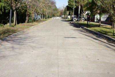 Se inauguraron dos nuevos pavimentos en Los Polvorines