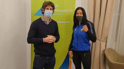 "Juan Andreotti recibió a Érica ""Pantera"" Farías antes de viajar a Las Vegas, donde disputará el título mundial de boxeo"