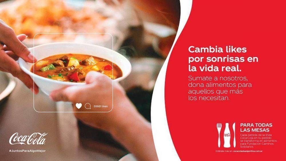 Coca-Cola de Argentina y la ONG Caminos Solidarios, se unen para llevar comida a quienes más lo necesitan
