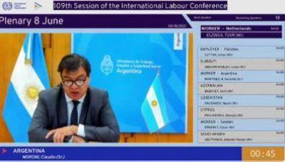 OIT: Discurso del ministro de Trabajo, Claudio Moroni